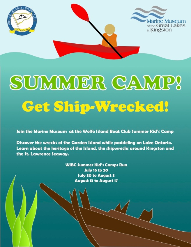 Exploring for Shipwrecks at Camp  – Wolfe Island Boat Club